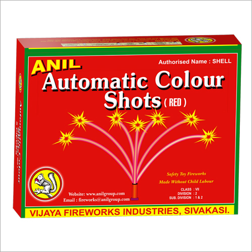 Automatic Colour Shots(Red) 5 Firecracker