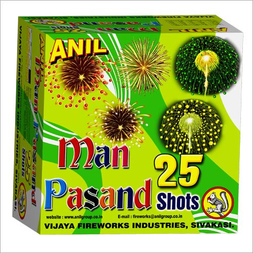 Man Pasand 25 Shots Firecrackers