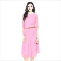 Pink Moonlight Western Dress