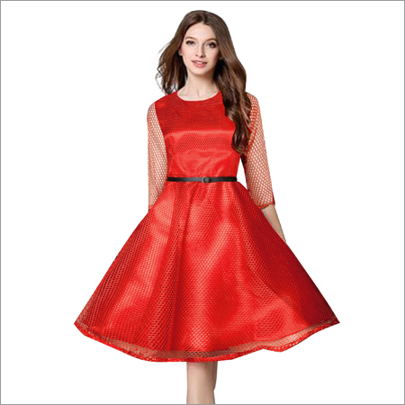 Maxican Red Western Dress