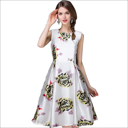 Eva White Western Dress