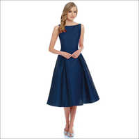 Charmie Navy Blue Western Dress