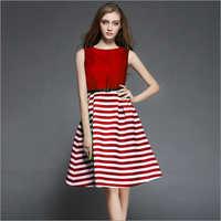 Creta Red Western Dress