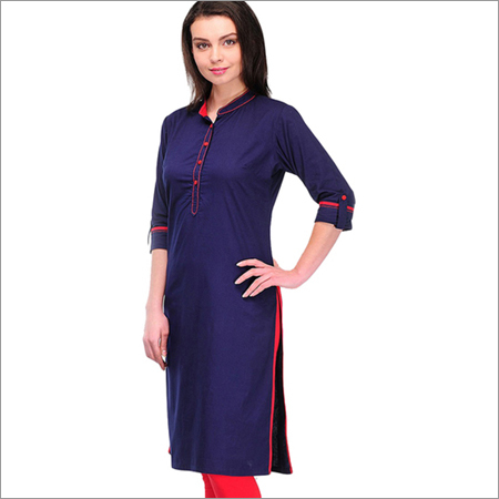 Ladies Office Blue Kurti