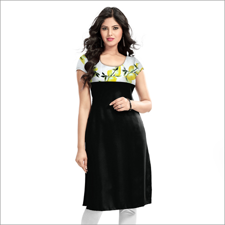 Ladies Mini Limbu Black Kurti