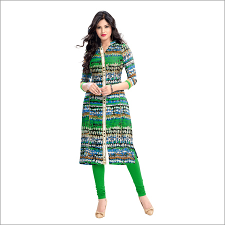 Ladies Kalki Green Kurti