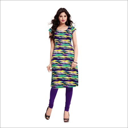Ladies Satarangi Wine Kurti
