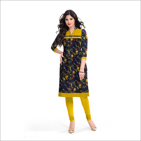 Ladies Honey Blue Kurti