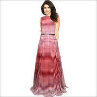 Ladies Decent Maroon Gown