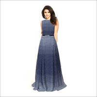 Ladies Decent Blue Gown