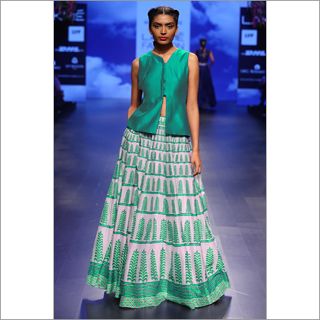 Ladies Dezire C-Green Lehenga