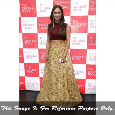 Ladies Garden Red Lehenga