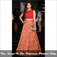 Ladies Fire Red Lehenga