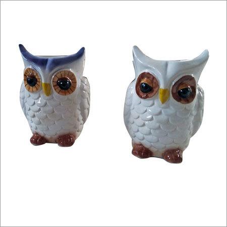 Owl Shaped Ceramic Planters