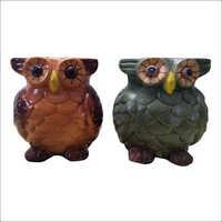 Owl Shaped Ceramic Pots