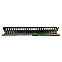 1U 24PORT FTP EMPTY PANEL, WITH SUPPORT BAR