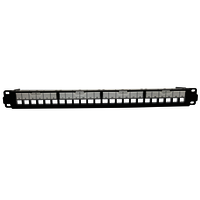 1U 24PORT FTP UTP Dual Shuttered Empty Patch Panel