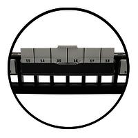 1U 24PORT FTP UTP Dual Shuttered Empty Patch Panel