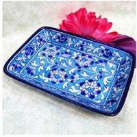 Blue Pottery Half-Plate