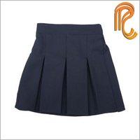 Pleated & Plain Girl'S School Skirt