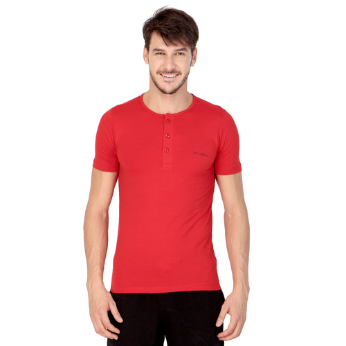 Red colour plain shirt
