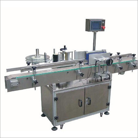 Semi Automatic Self Adhesive Vertical Labeling Machine For Round Bottle
