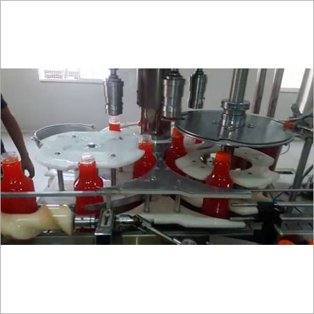 Automatic Liquid Filling With Capping Machine