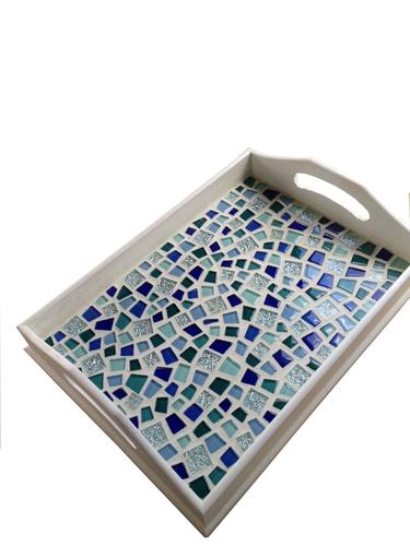 Mosaic decorative serving tray