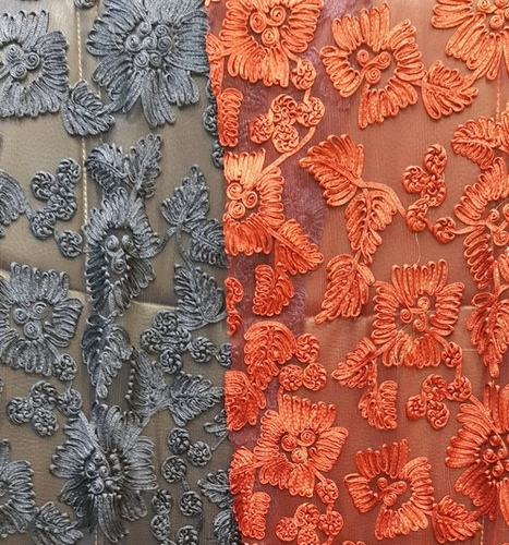 Designer Embroidery Net Fabric
