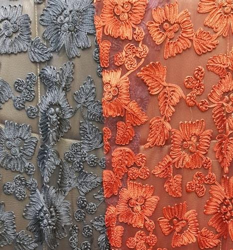 Designer Embroidery Net Fabric