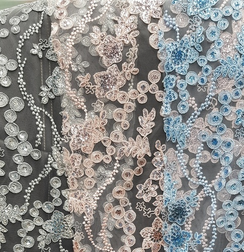 Fancy Embroidery Net Fabric