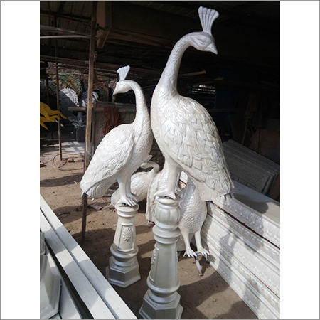 Fibre Peacock Statue
