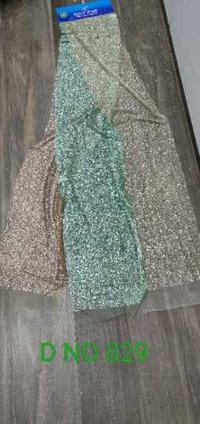 Glitter Hand Embroidery Net Fabric