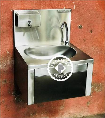 Stainless Steel Knee Operated Hand Wash Sink