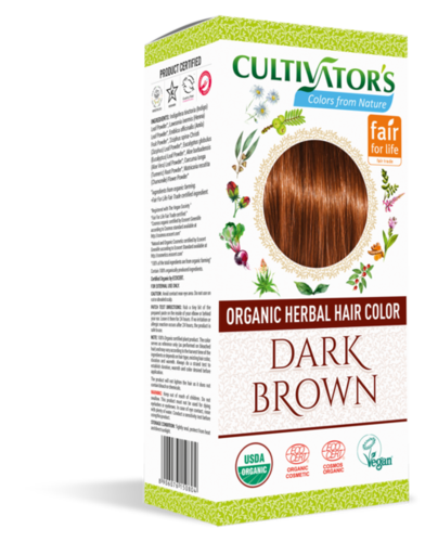 Organic Herbal Hair Color Dark Brown