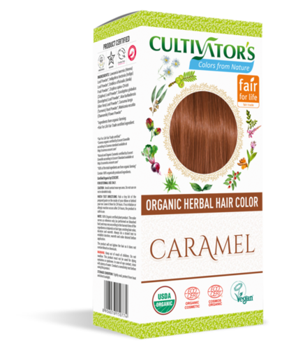 Organic Herbal Hair Color Caramel