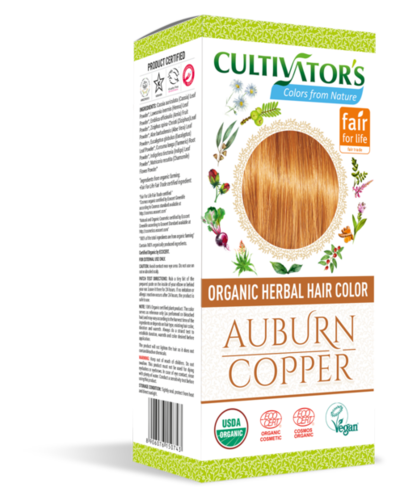 Organic Herbal Hair Color Auburn - Copper