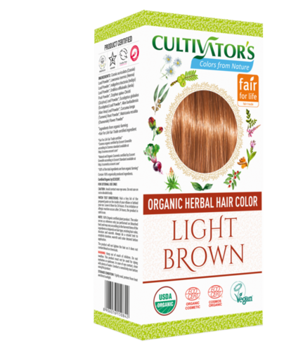 Organic Herbal Hair Color  Light Brown