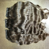Human Hair Material and 100g each Weight raw indian temple hair