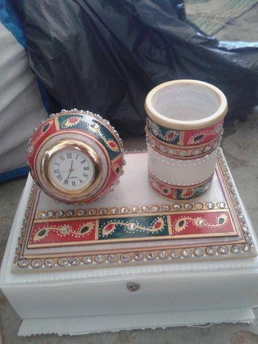 Handcrafted Marble Desktop Clock