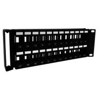 2U 48port V type UTP patch panel