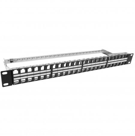 1U48port keystone panel shielded type