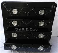 Black Aviator Drawer Chest