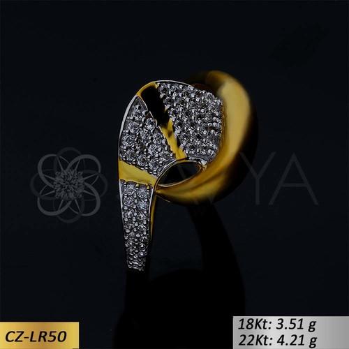 GOLD CZ LADIES RING