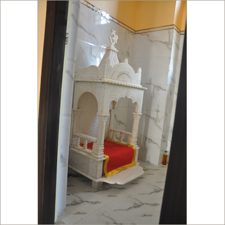 White Marble God Design Services in KolkataPooja Room Design