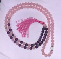 Rose Quartz and Amehtsty Fusion Mala