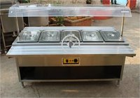 SS BAIN MARIE WITH SNEEZE GUARD
