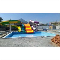 Multilane, racer, uphill, Water Slide