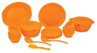 32 Pieces Round Plain Dinner Set