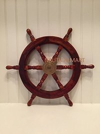 SAILORS SPECIAL Wooden Ship Wheel, 15